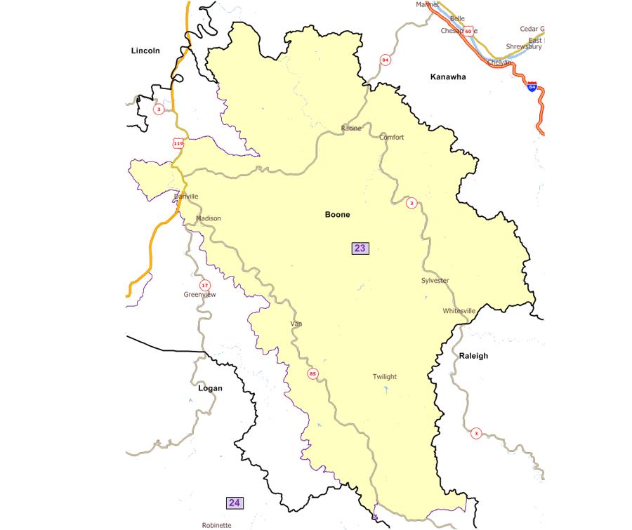 West Virginia Legislatures District Maps - Us 23 map