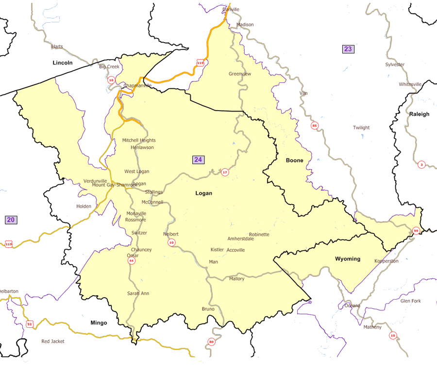West Virginia Legislatures District Maps - Germany map hd image