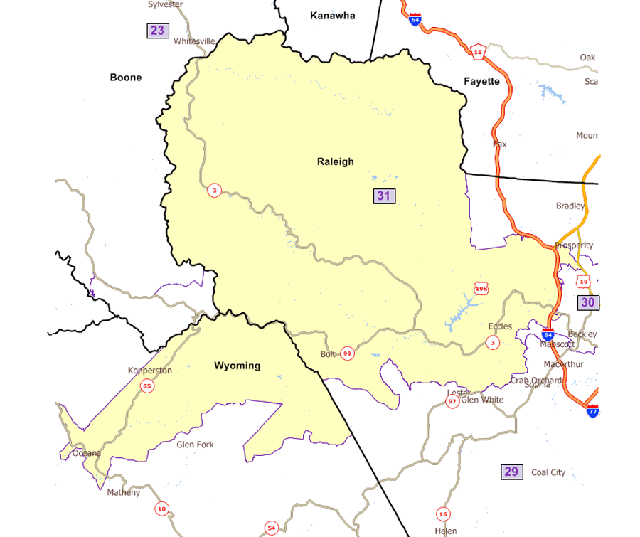 West Virginia Legislatures District Maps - Us delegates map