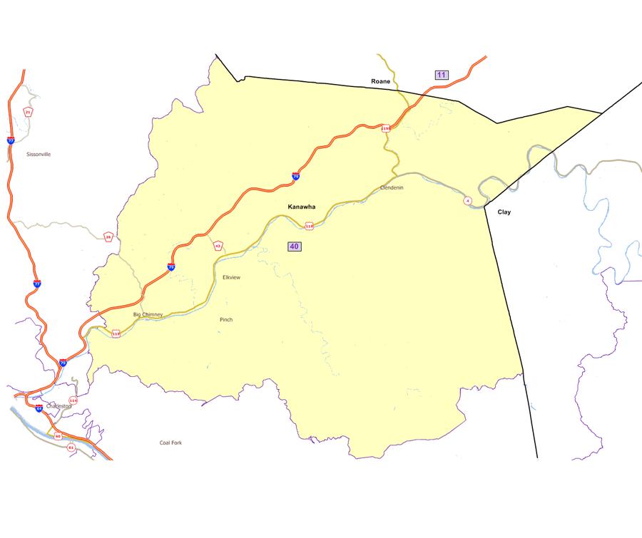 West Virginia Legislatures District Maps - Us map 12 40