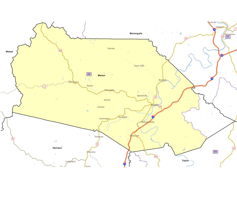 West Virginia Legislatures District Maps - Us house of representatives map 2017