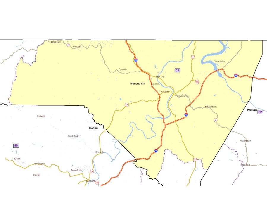 West Virginia House Of Delegates - Us delegates map