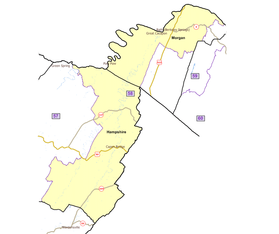West Virginia House District 58
